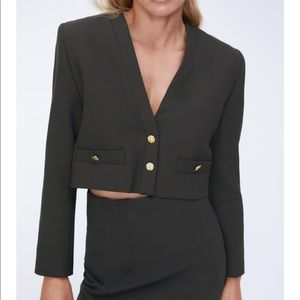 Zara shoulder pad top